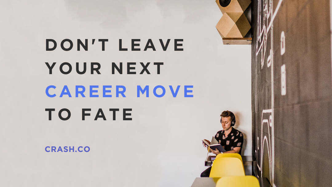 Featured blog post image of a man leaving his career move to fate.
