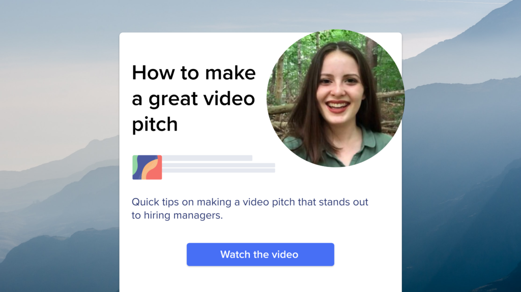 3 Tips on How to Make a Great Video Pitch (and get an interview)